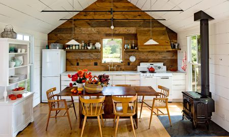 Country Style To Your Kitchen Rustic Wood Feature Wall In A Tiny Home