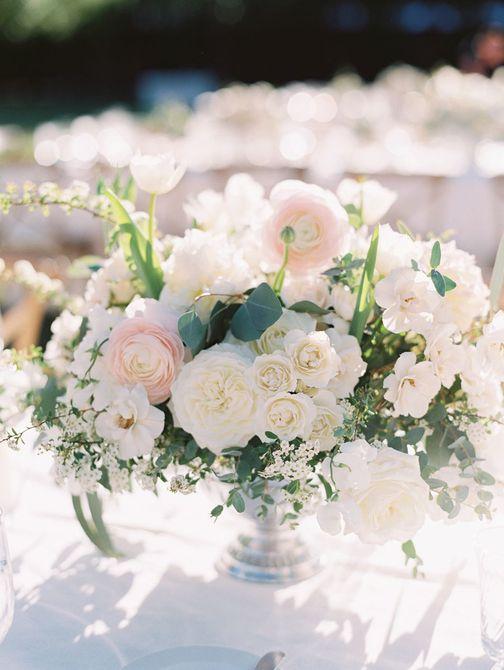 Rose Spring Wedding Centerpiece