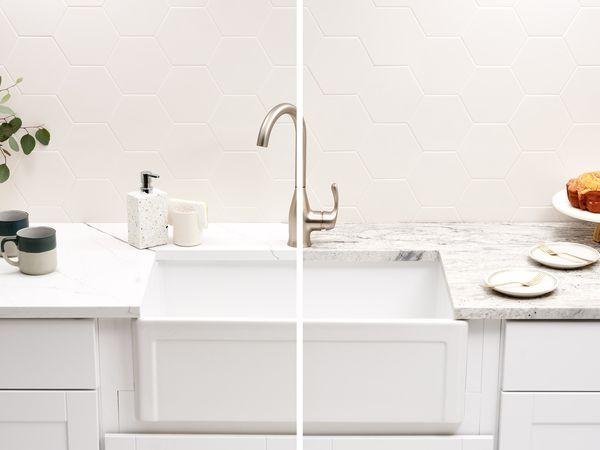 Quartz and granite countertop