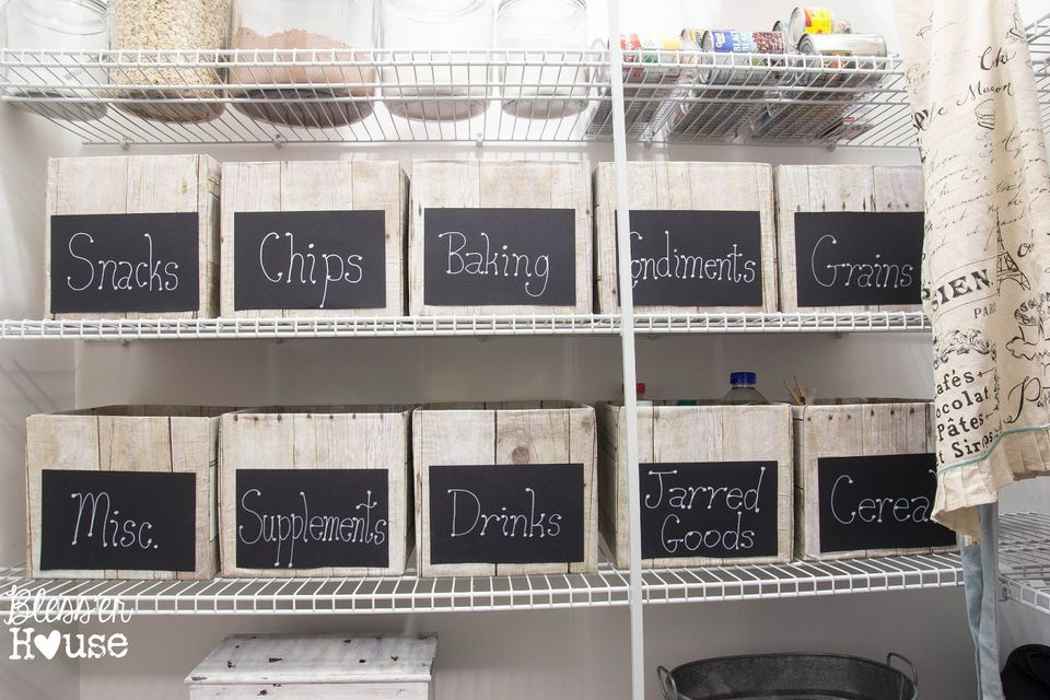 Labeled Kitchen Pantry