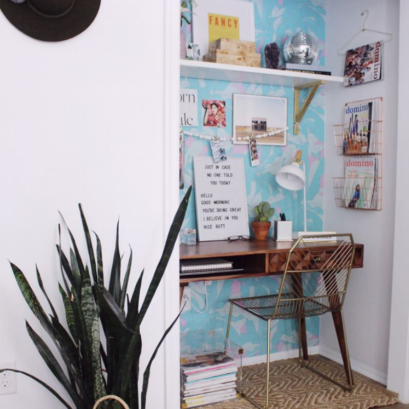 Closet turned small home office