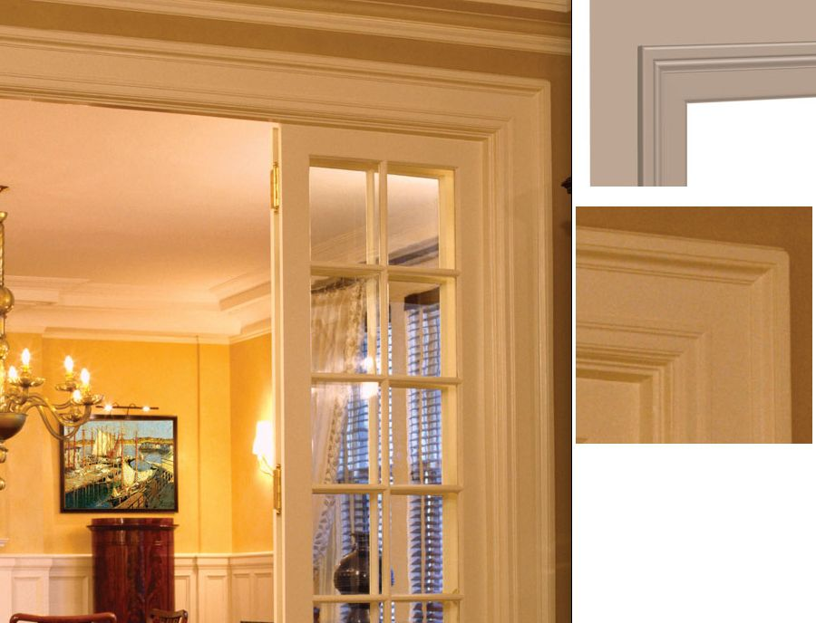 Colonial de molduras de puerta