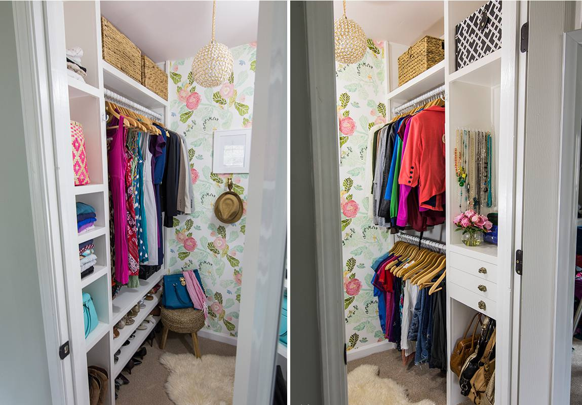 Girlie closet brimming storage solutions