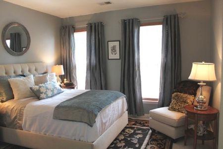 Beautiful Small Gray Bedroom
