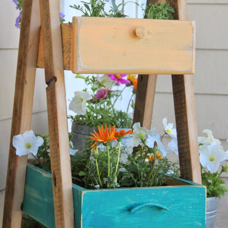 A planter made from drawers