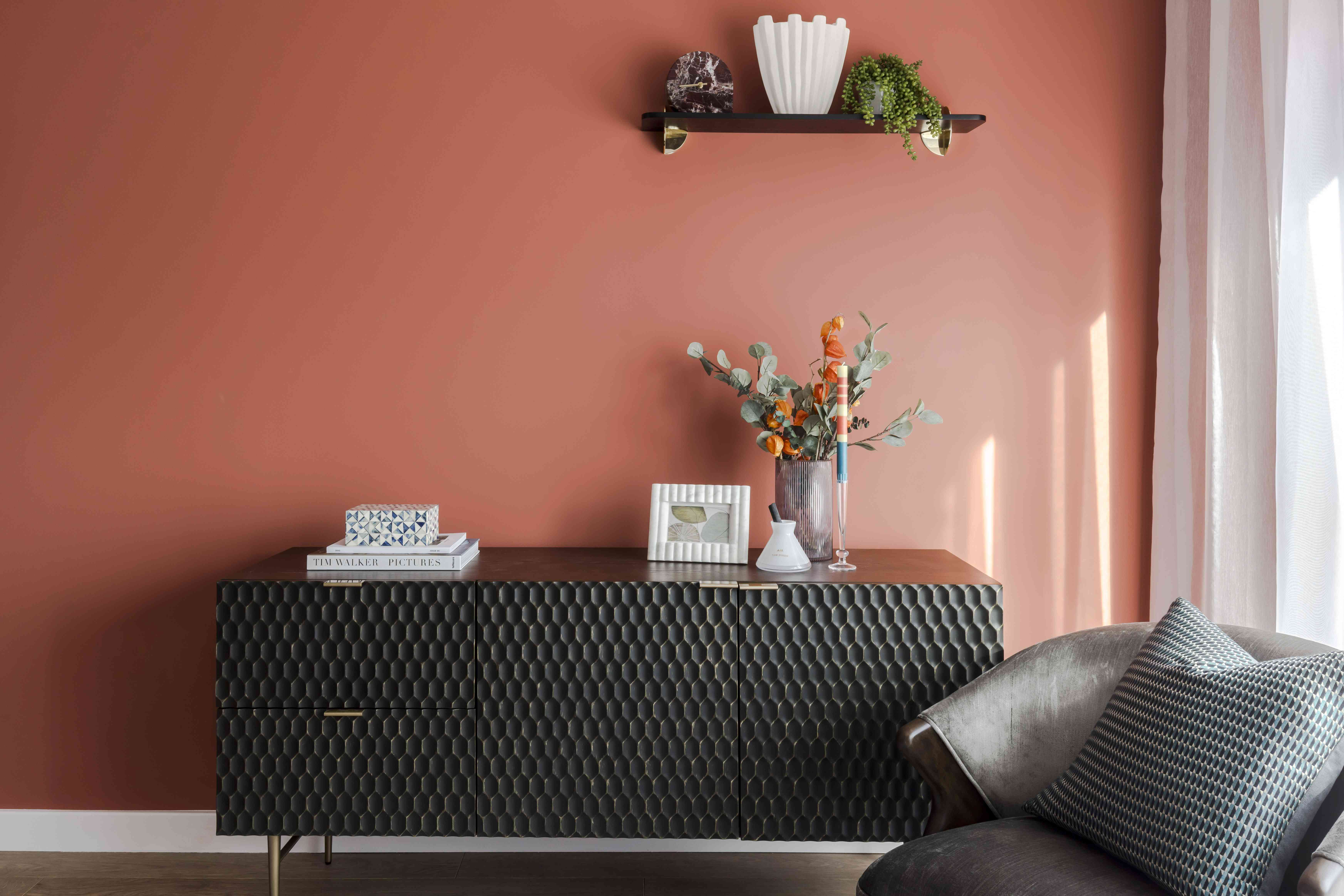 A styled single shelf follows the triangle rule