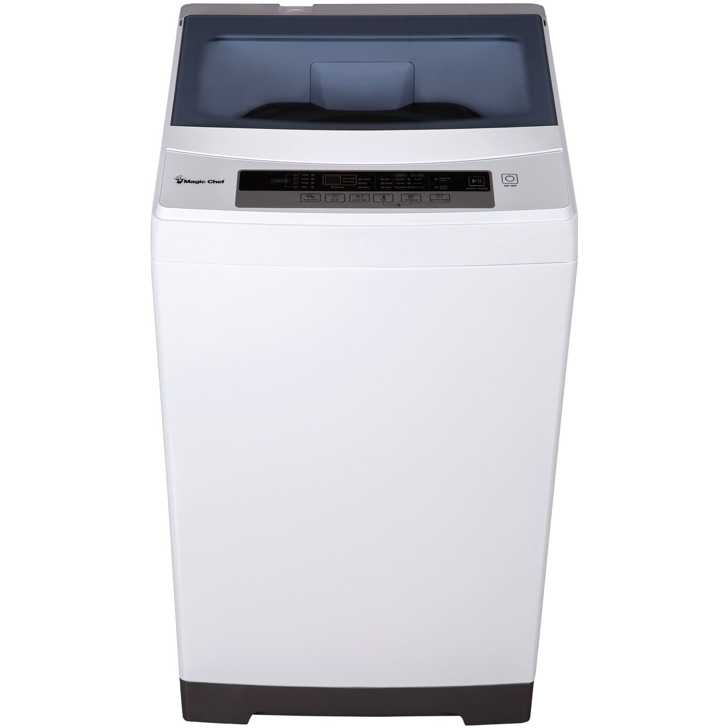 The Magic Chef MCSTCW16W4 1.6 cu. ft. Compact White Top Load Washing Machine has a stainless steel tub.