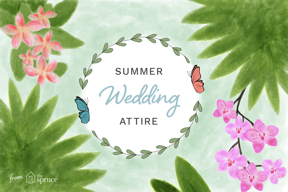 Vestimenta de boda de verano