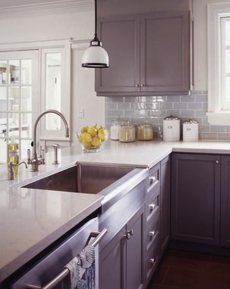Purple 10 Of The Most Inspiring Colorful Kitchen Cabinets