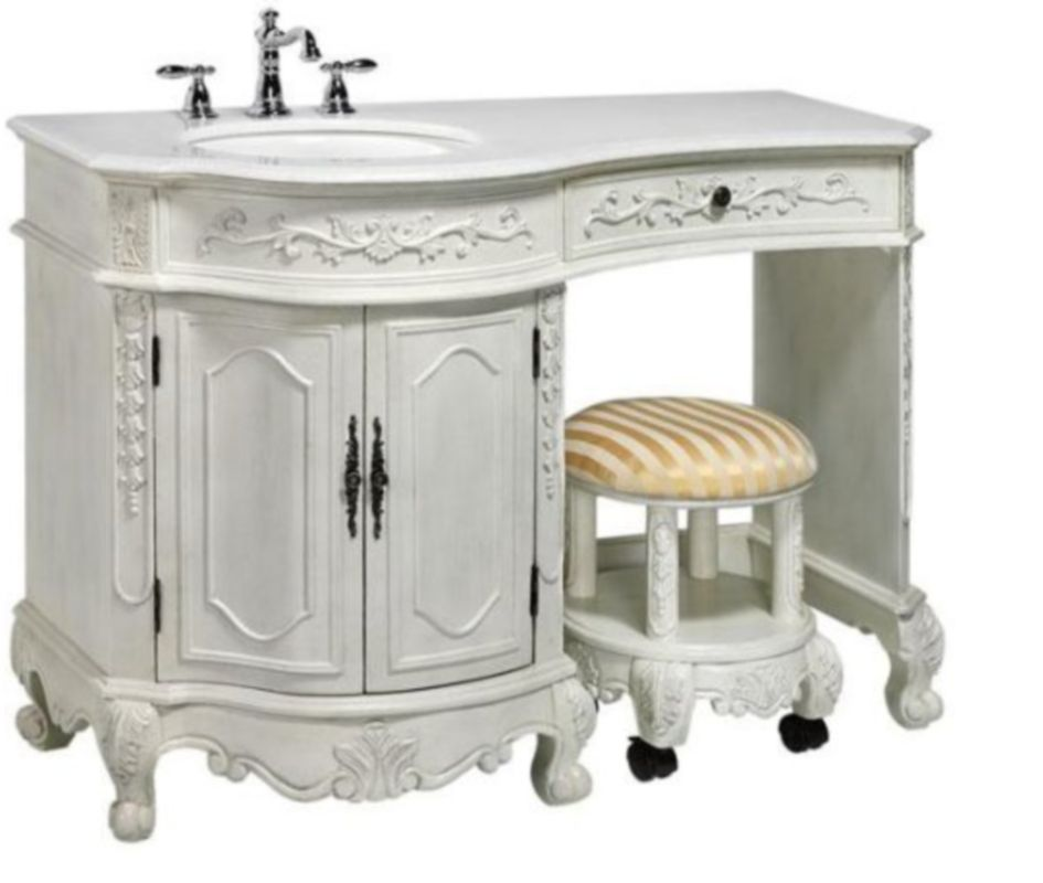 Wondrous Bathroom Vanities That Look Like Antique Furniture Gmtry Best Dining Table And Chair Ideas Images Gmtryco