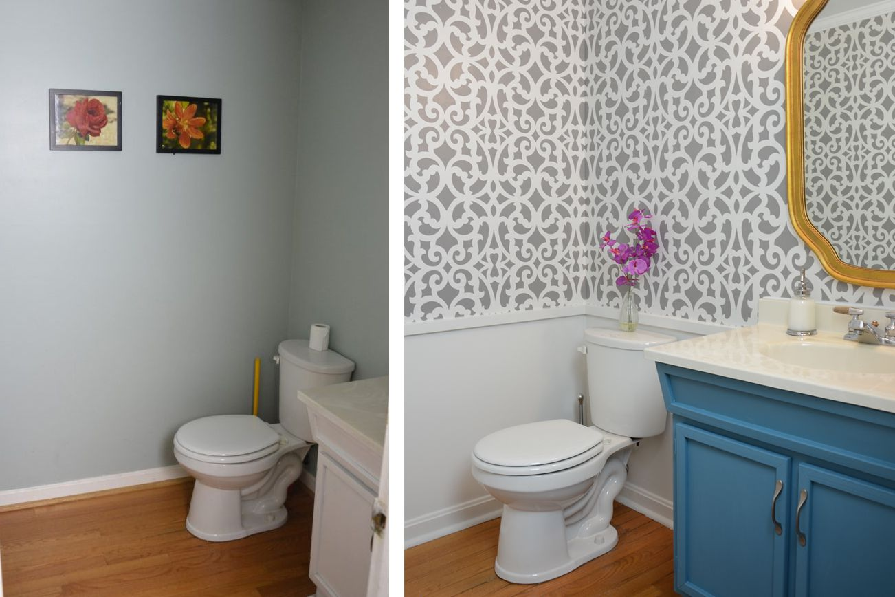 stenciled-wall-small- baño