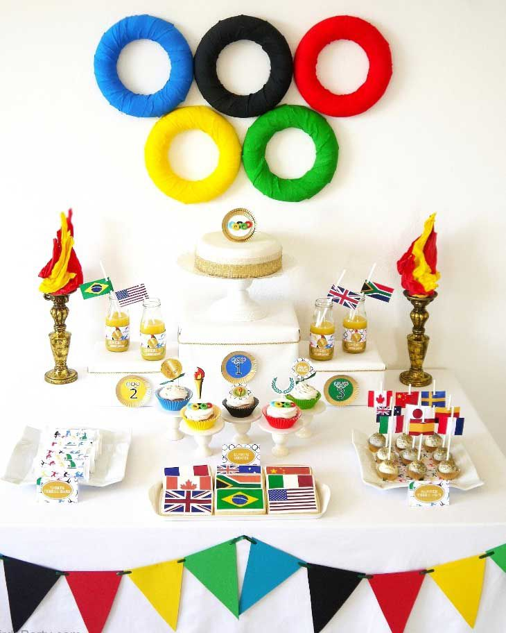 Olympic-themed party