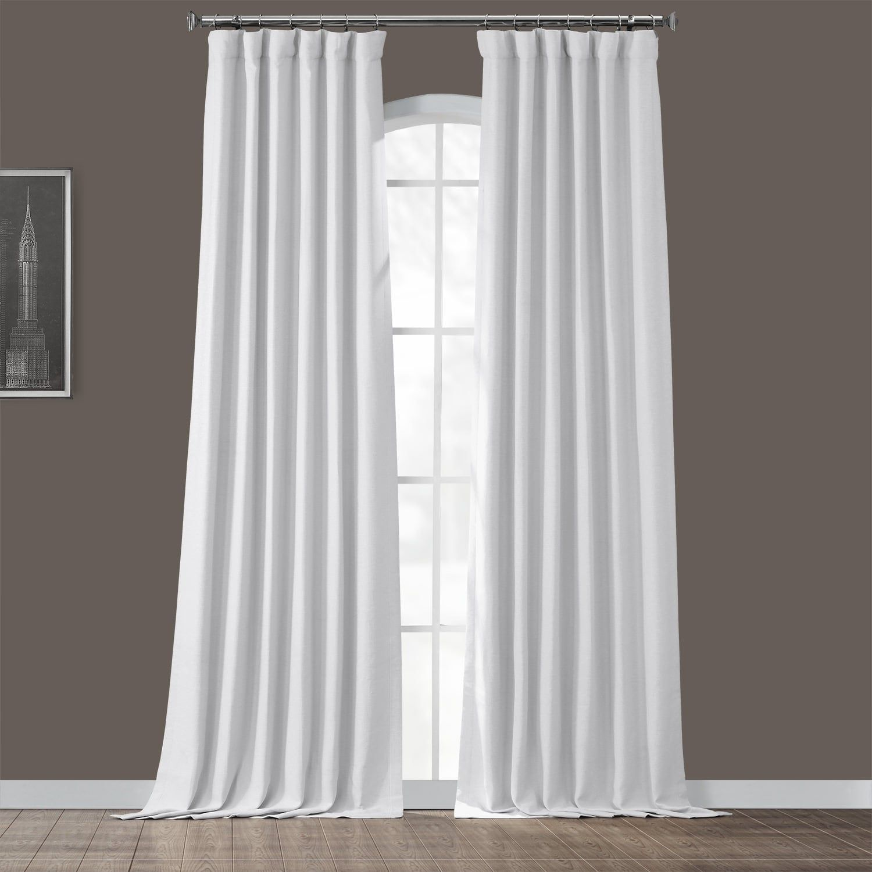 Exclusive Fabrics & Furnishings Chalk Off White Rod Pocket Blackout Curtain