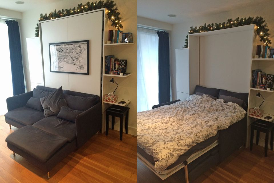 12 diy murphy bed projects for every budget for Build your own couch cheap