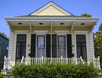 Shotgun House in the Irish Channel of New Orleans