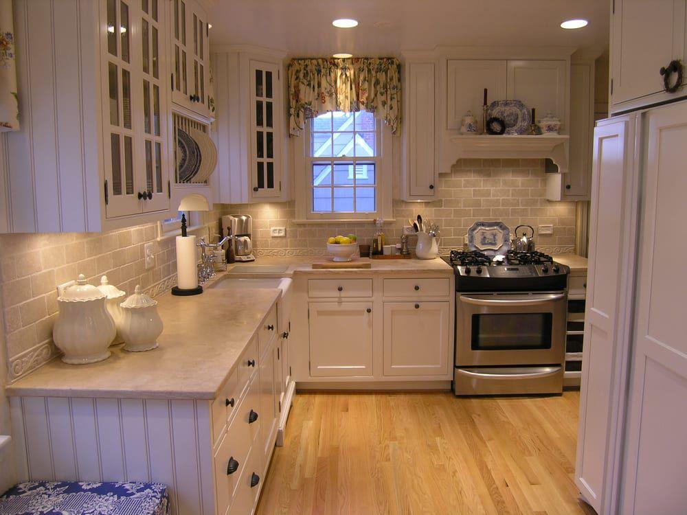 limestone countertops beadboad kitchen