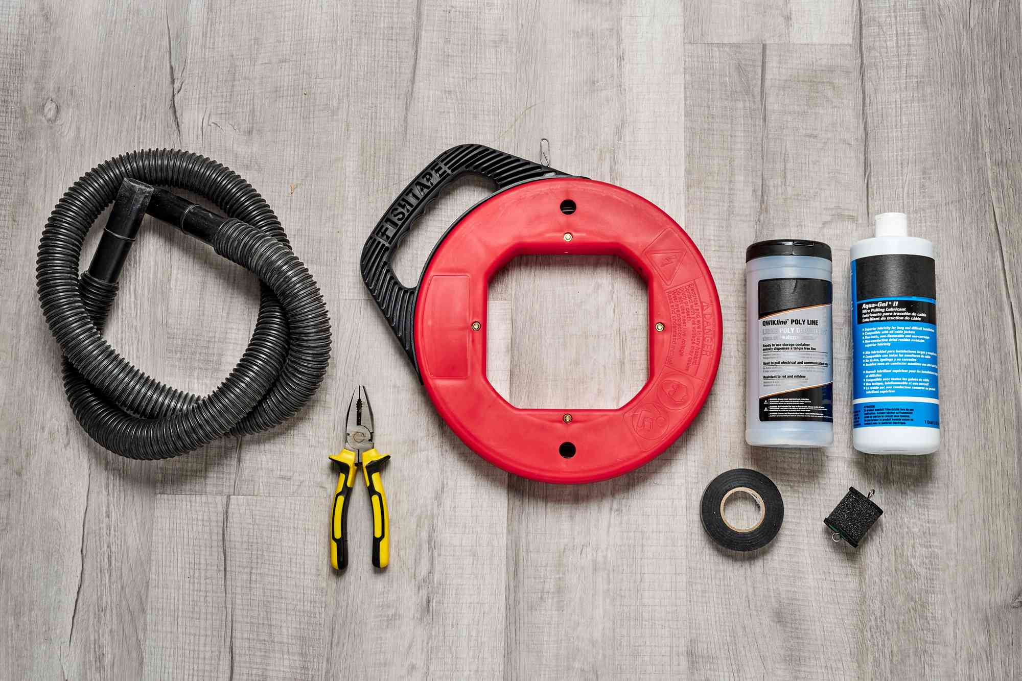 Materials and tools to pull wire through conduit