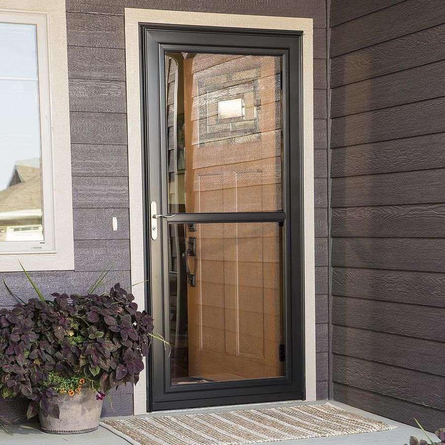 LARSON Tradewinds Fullview White Full-View Aluminum Storm Door (Common: 36-in x 81-in; Actual: 35.75-in x 79.75-in)